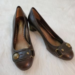 **Coach Elisabeth Sz 8 Brown Leather Pumps